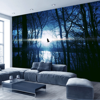 Textured Tree Forest Woods Wallpaper Non woven fabric Wall Paper Mural For TV Background Wall Home Decor Wall Paper Black White