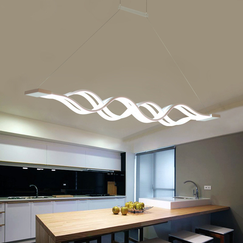 Modern Pendant Lights For Dining Living Room Kitchen Fixture Indoor Home Decor Suspension Luminaire With Remote Control Hanglamp modern circle rings pendant lights fixture living dining room restaurant deco indoor home acrylic hanglamp dimming luminaire