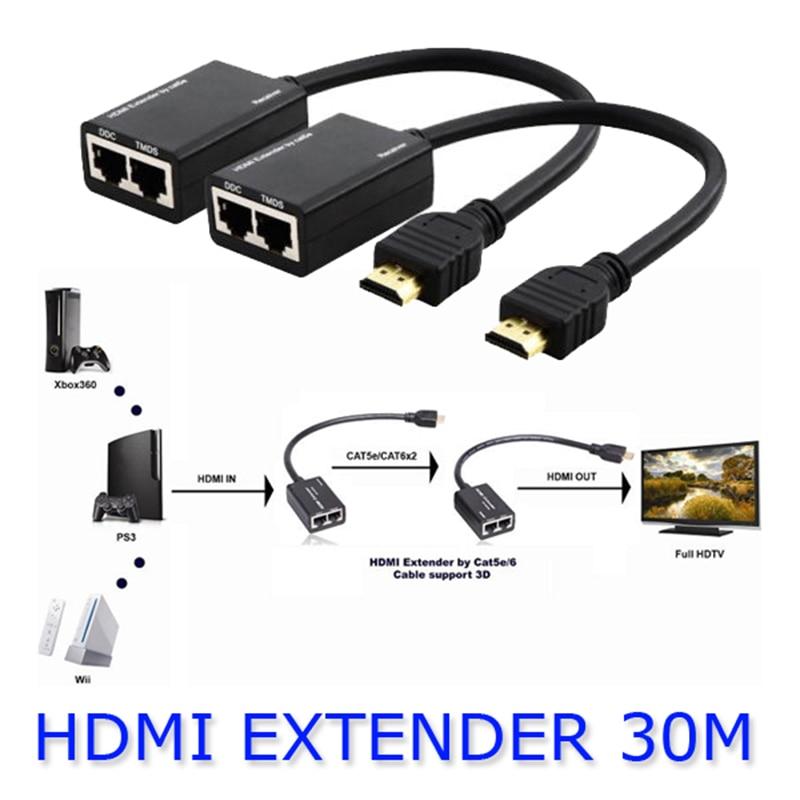 Kaycube HDMI EXTENDER 30M HDMI Over RJ45 CAT5e CAT6 UTP LAN Ethernet Balun Extender Repeater - 1080p 3D  Эхолот для рыбалки