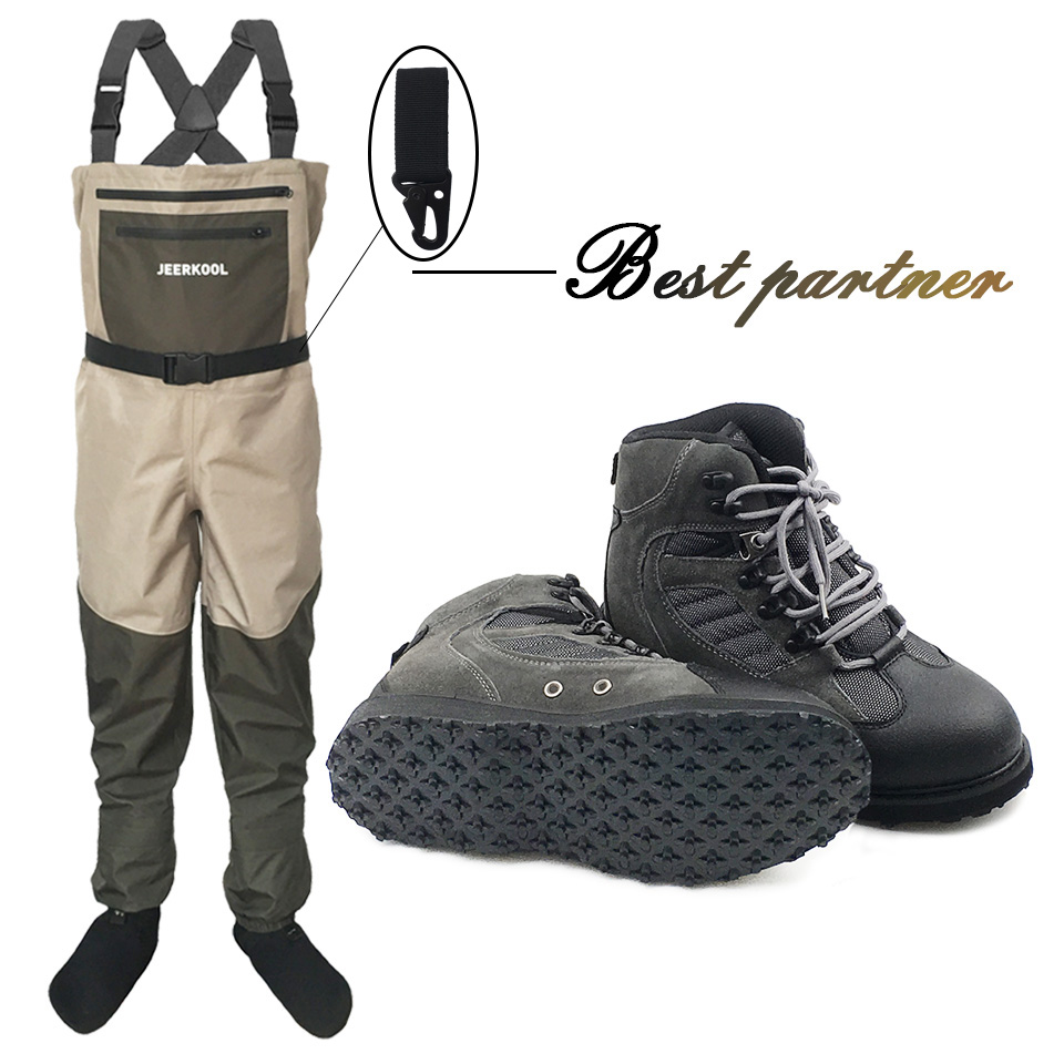 Pêche à la mouche Vêtements et Chaussures Aqua Sneakers Patauger Vêtements Ensemble Respirant Rock Semelle En Caoutchouc Bottes Échassiers En Plein Air Pantalon PS5