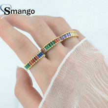 5pieces ,Women Fashion Jewelry,Gold Plating Prong Setting CZ Rings,The Rainbow Series Rings