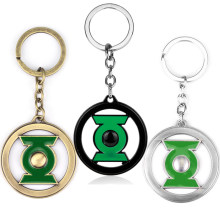 MQCHUN Movie Jewelry DC Comics Super Hero Green Lantern Keychain Metal Key Chain Pendant Keyrings Key Ring Christmas Gift-50(China)
