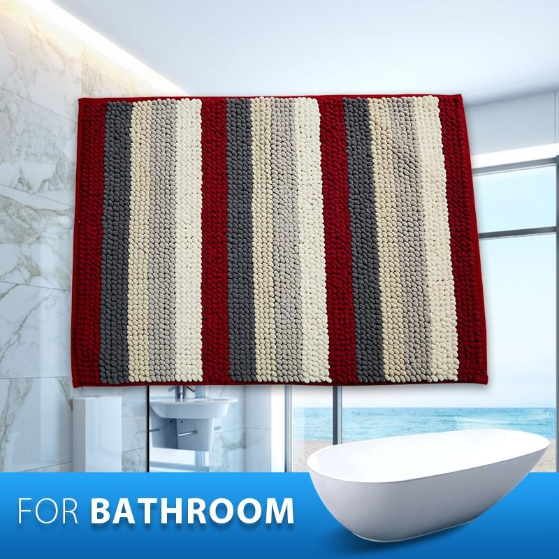 Modern Striped Bathroom Mats Fluffy Rugs Anti Skid Shaggy Alfombra  Microfiber Bath Mat Soft carpet. Online Get Cheap Shaggy Bathroom Rug  Aliexpress com   Alibaba Group