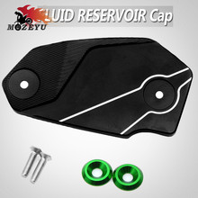 Motorcycle Accessories CNC Brake Fluid Reservoir Tank Cover Cap For Kawasaki Z800 Z 800 2013 2014-2016