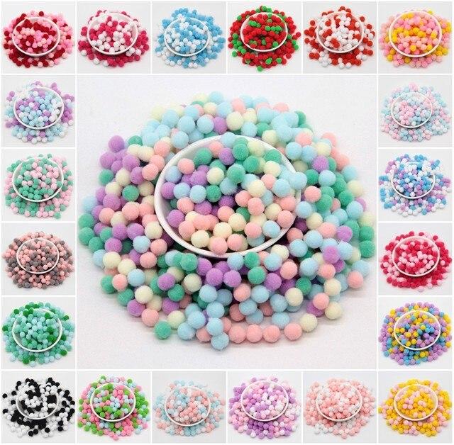Многоцветные мини помпоны 8 мм помпоны ремесла DIY ремесла помпоны для детей игрушки одежды Швейные дома Свадебные украшения помпоны 20 г