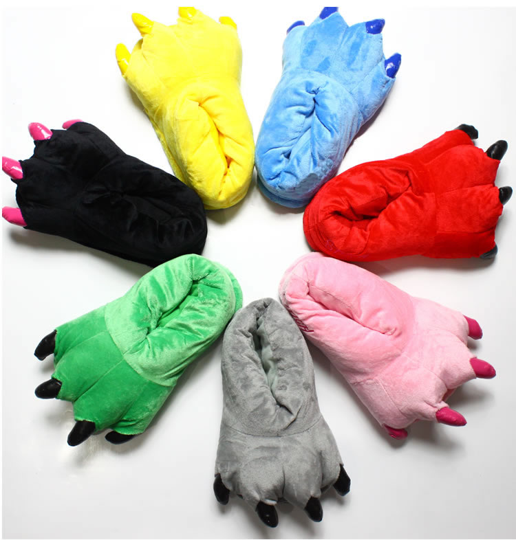 animal pata chinelos crianças variedade de cores