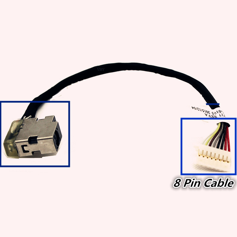 New laptop For HP ProBook 430 440 450 455 470 G3 804187-Y17 DC Jack Cable Power Charging Connector Port Wire Cord цена 2017
