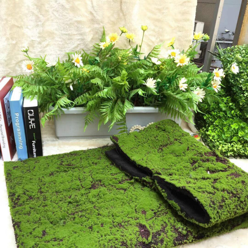 Cactus artificial flowers fake plants spruce moss for decoration garland grass stone skin simulation lawn bonsai wall landscape