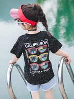 2019 New Teenage Baby Girl Summer Top/clothes Happy Birthday Tshirt Princess Baby T Shirts Tee Shirt Fille Kids Teens 7 8 10 12