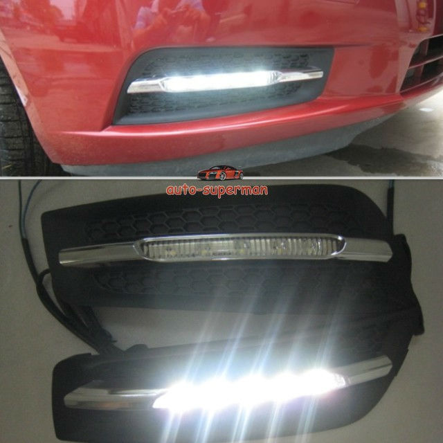 LED Fog Lamp <font><b>Light</b></font> Daytime <font><b>Running</b></font> DRL For <font><b>Chevrolet</b></font> <font><b>CRUZE</b></font> 2009 2010 <font><b>2011</b></font> 2012 image
