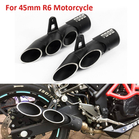 Slip on for R6 Motorcycle   Exhaust   Pipe Black Two-outlet Three-outlet   Exhaust     System   Pipe with Laser Logo for Yamaha R6 2006-2018