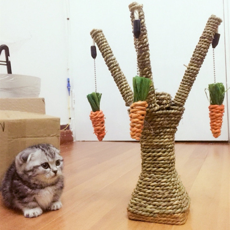 Ortilerri The Cat Climbing Frame Sisal Rope Scratching Cat Toy Sisal Grinding Claws Scratching Post Platform Pet Supplies #2
