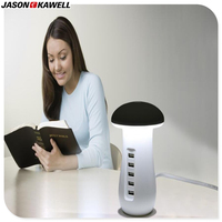 10pcs A Lot Mushroom LED Desk Lamp With 5 Ports USB Charging Station For Any Electronic