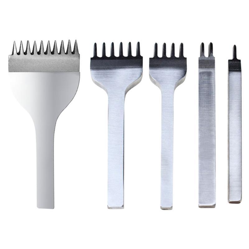 3/4/5/6mm cuero herramientas Punch perforador para la piel cuero costura Punch herramienta 1 + 2 + 4 + 6 cornamenta cuero