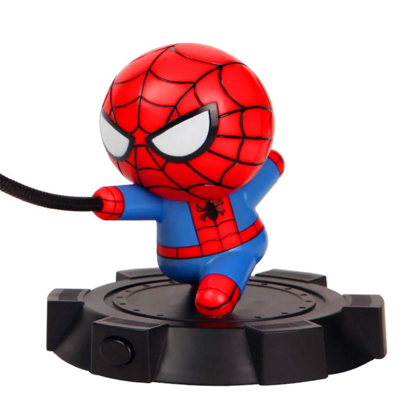 Heroes LED Night Lamp Table Lamp Spider Man American Captain Hulk Iron Man Avengers Alliance Bedroom Living Room Deco Night Lamp in LED Night Lights from Lights Lighting