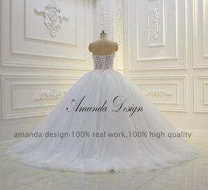 Image 5 - Vestido de novia Amanda Design sin tirantes transparente con Apliques de encaje