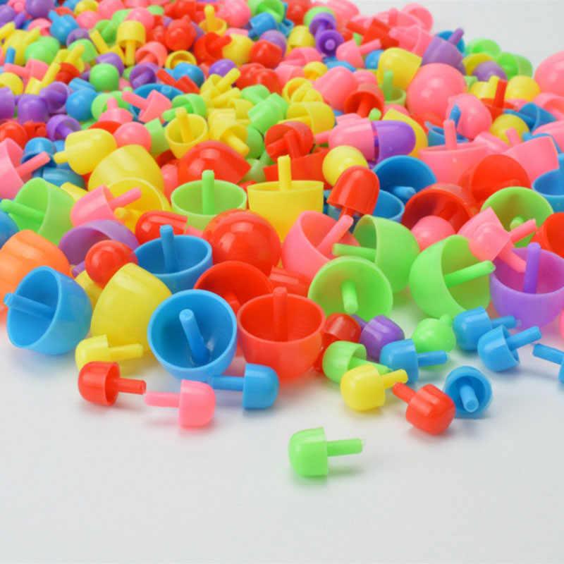 296 шт. набор для ногтей с грибами, детские игрушки-головоломки, 3D головоломки, игрушки для детей, композитная интеллектуальная развивающая игрушка