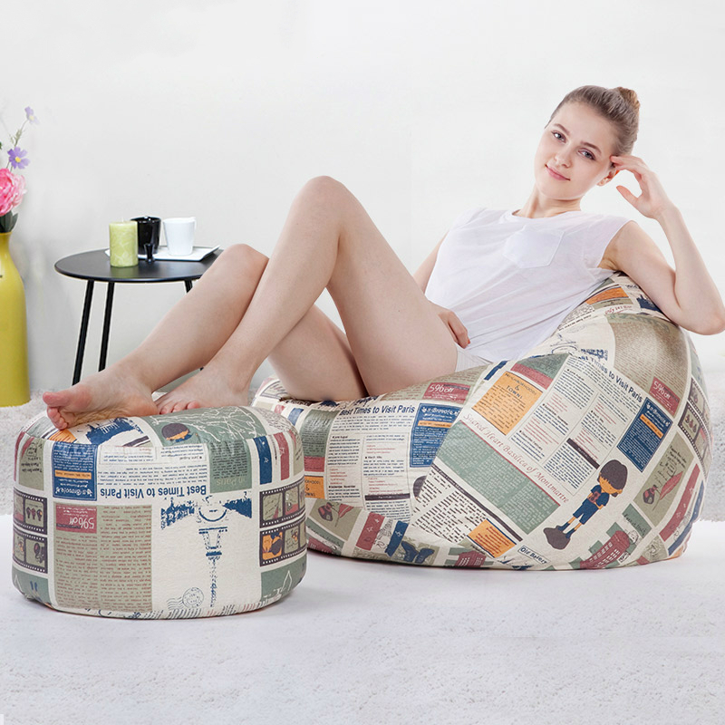 Lazy Sofa Bean Bag with Pedal Creative Single Sofa Bedroom Living Room Adult Lazy Stool Tatami Small Sofa lazy sofa bean bag with pedal creative single sofa bedroom living room lazy stool tatami