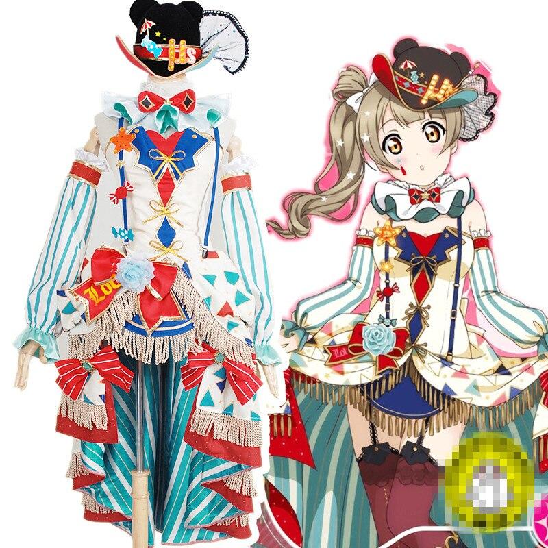Love Live Honoka Kotori Umi Eli Nozomi Maki Rin Hanayo Nico idolized circus clown cos Dress