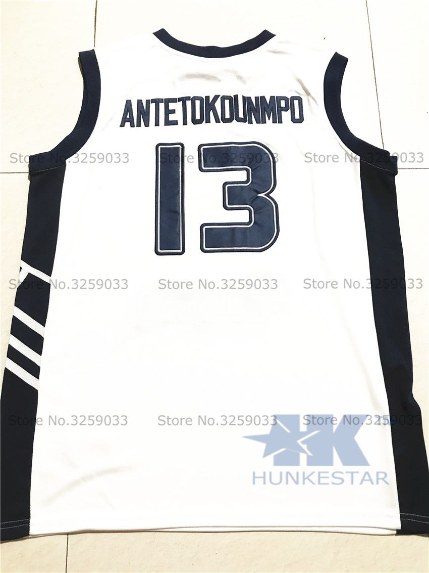 Mens Hellas Giannis Antetokounmpo Jersey  13 Greece Throwback Basketball  Jersey MAN Basket Uniforms Stitched Trikots Shirts-in Tank Tops from Men s  Clothing ... dc4e2ff2f