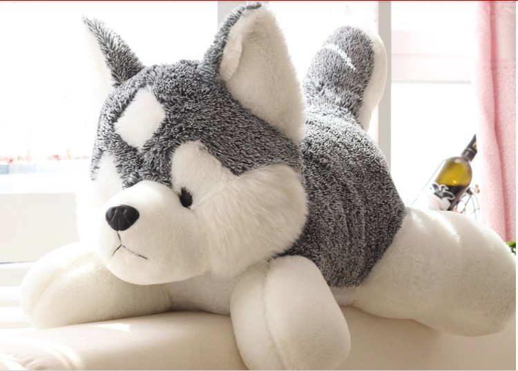 stuffed animal lovely husky dog plush toy about 80cm lifelike husky dog doll throw pillow  toy h7637 stuffed animal plush 80cm jungle giraffe plush toy soft doll throw pillow gift w2912