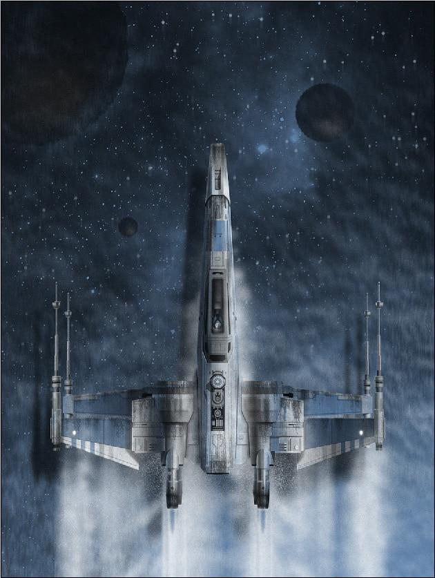 5x7ft Star Wars Force Wekt Blauwe Ruimte Planeet Schepen Vliegtuig Custom Fotografie Studio Achtergrond Vinyl 150 Cm X 220 Cm 100% Origineel
