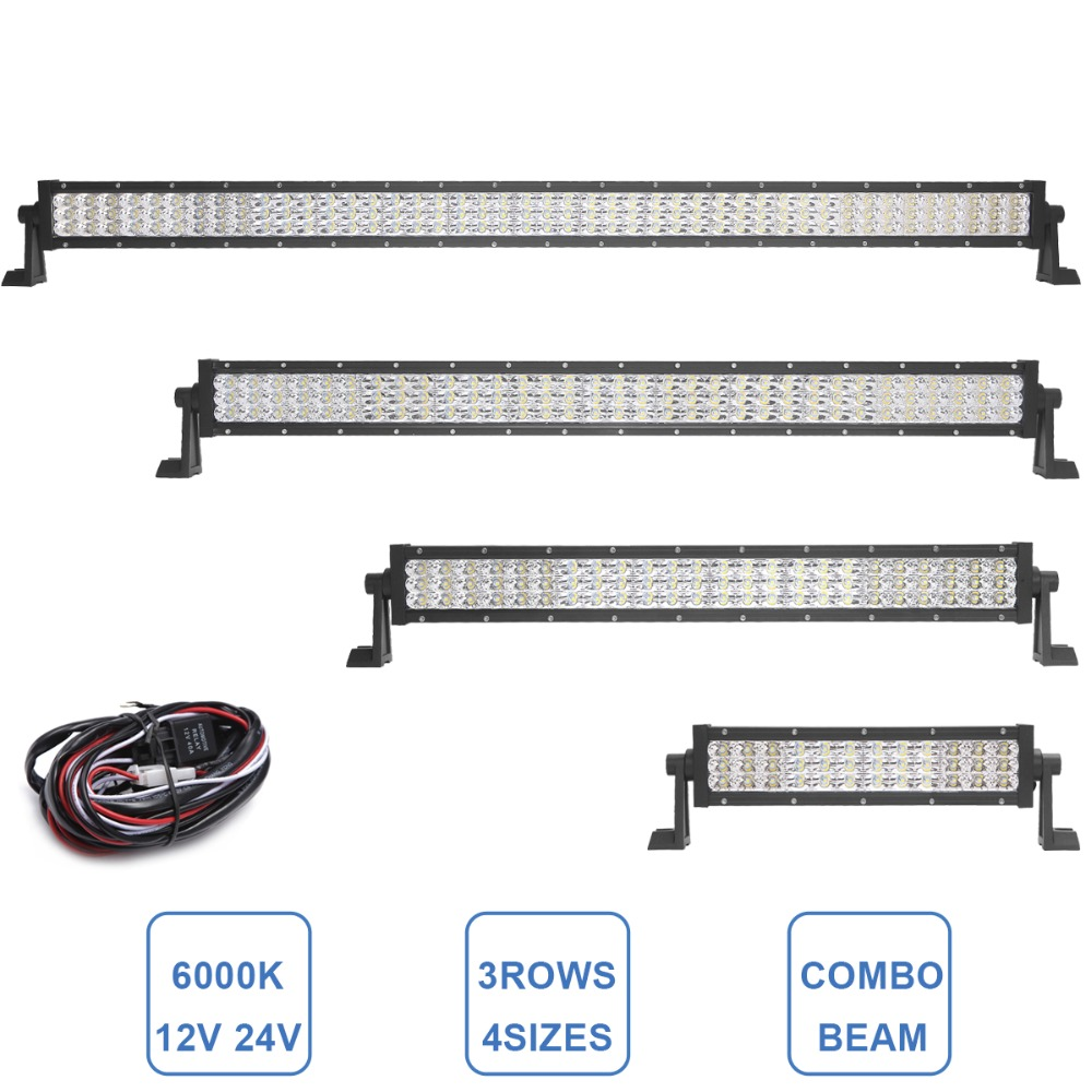 OFFROAD LED DRIVING LIGHT BAR 12V 24V 12'' 23 31 42 INCH OFF ROAC CAR SUV TRUCK TRAILER WAGON PICKUP 4X4 4WD ATV COMBO HEADLIGHT 9 inch osram chips 90w offroad led work light bar spot flood combo car truck trailer suv boat pickup 4wd 4x4 12v 24v headlight