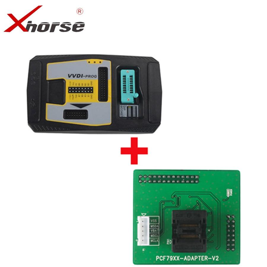 цена на Original Xhorse VVDI PROG Programmer V4.7.6 VVDIPROG Get Free PCF79XX Adapter