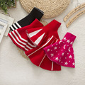 10 colors! Children Girl high Waist Skirt Kids Wool Knit Skirt Black Red Tutu Skirt Pettiskirt Vestidos Infantil school child