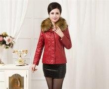 Fur Leather Coat Women Leather Jacket Long Slim Ladies Jackets Coats Outerwear Women s Leather Clothing