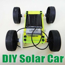 Hot Sale DIY solar toy car assemble solar vehicle yourself mini solar energy powdered toy racer