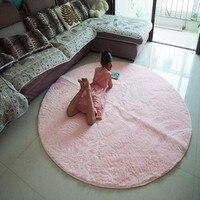 Antypoślizgowe 120cm 140cm 160cm 200cm Oversize gruba podłoga mata okrągły dywanik koło dywany do salonu łazienka w Dywany od Dom i ogród na