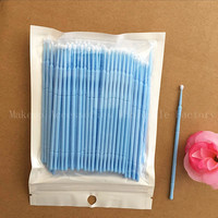 500pcs Colorful Micro Disposable Eyelash Extension Individual Applicators Mascara Brush For Women Eyes Make Up Tool