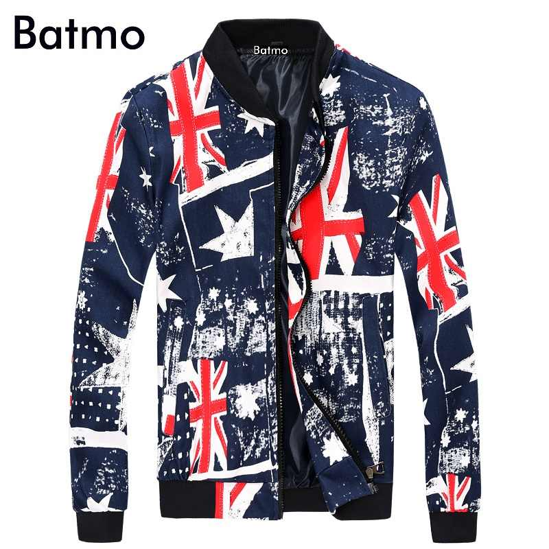 2019 Spring New Arrival Fashion printed pattern American flag  Men's causal Jacket ,Jacket men  Size S~2XL