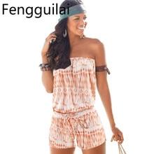 Women Off Shoulder Rompers Jumpsuit Short Overalls Playsuit Female Summer Romper Clothing Combishort