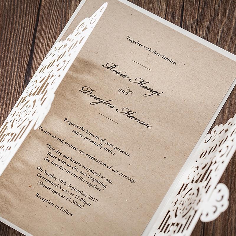 12pcs lot laser cut vintga flower door wedding invitation cards
