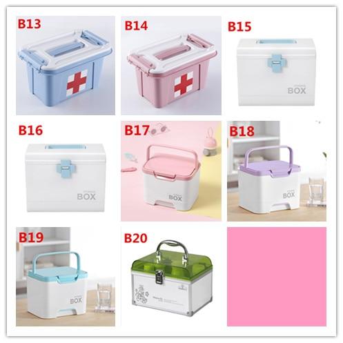 Di plastica per uso domestico medico della scatola di famiglia kit di pronto soccorso B647 multistrato scatola di immagazzinaggio di droga bambino Kit bambino