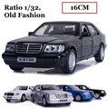 Liga Clássico modelo de carro Benz, 1:32 modelo fundido, modelo de carro toys moda antiga