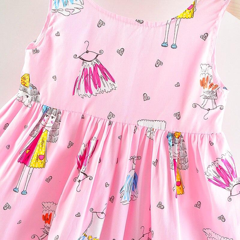 2019 new girls print cotton silk small bow summer Korean princess dress in Dresses from Mother Kids