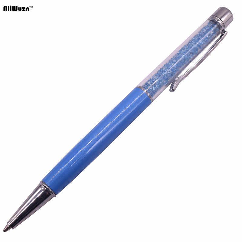 23 renk kristal tükenmez kalem yaratıcı Pilot Stylus dokunmatik kalem yazma kırtasiye ofis ve okul kalem Ballpen mürekkep siyah mavi