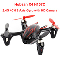 Mini rc drone com câmera hubsan x4 h107c 2.4g 4ch 6 Axis Gyro RC Quadcopter Dron Helicóptero Do Motor Brushless com Câmera HD toys