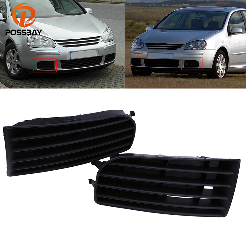 POSSBAYHigh Quality Car Front Bumper Lower Grille Cover Fit for VW Golf MK5 2004-2009 Car Accessories Racing Grills