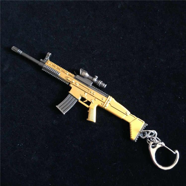 12 سنتيمتر PUBG 7.62 مللي متر بندقية سلاح AKM نموذج AK 47 اللعب بيستولا llaveros تشافيرو sleutelhang