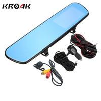 4 3 Full HD 1080P Car Dvrs Rear View Mirror With Dual Lens Camera Night Vision