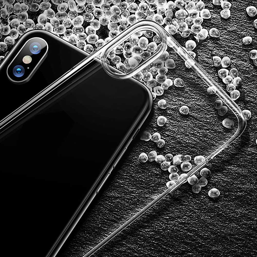 ل فون X XR XS ماكس واضح TPU حالات سيليكون واقية غطاء للأكمام شفافة لينة حقيبة لهاتف أي فون 8 7 6 6s زائد 4 4S 5 5S