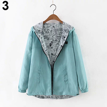 Women Autumn Patchwork Blouse Coat Casual Slim Fit Fashion s Hooded Outwear