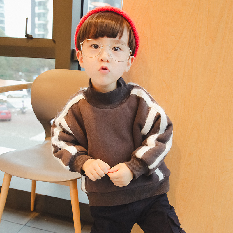 New Baby Boys Girls T Shirt Outerwear Cotton Plush Warm Sweatshirt for Boys Stripped Shirt for Boys Tops Baby Clothes