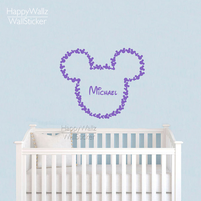 Lovely Mouse Wall Sticker Custom Name Wall Decal DIY Children Name Wall Decor Kids Baby Nursery  sc 1 st  AliExpress.com & Lovely Mouse Wall Sticker Custom Name Wall Decal DIY Children Name ...