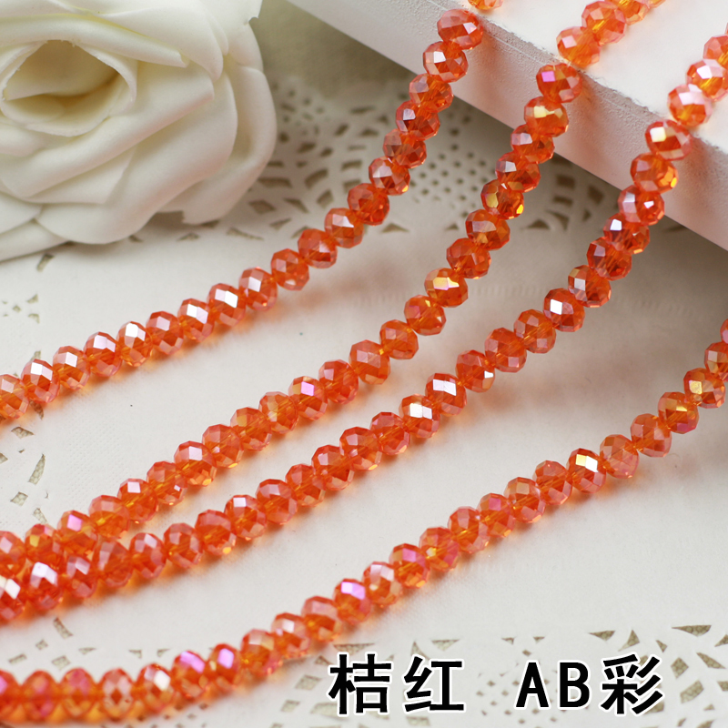 купить Tangerine AB Color 2mm,3mm,4mm,6mm,8mm 10mm,12mm 5040# AAA Top Quality loose Crystal Rondelle Glass beads дешево