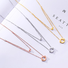 Boho Round Necklace Double Layered Necklace Gold Chain Choker Necklace Women Accessories Collares Femme sy0503 adjustable bar layered wrap necklace